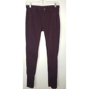 Uniqlo plum stretch jeggings sz. M